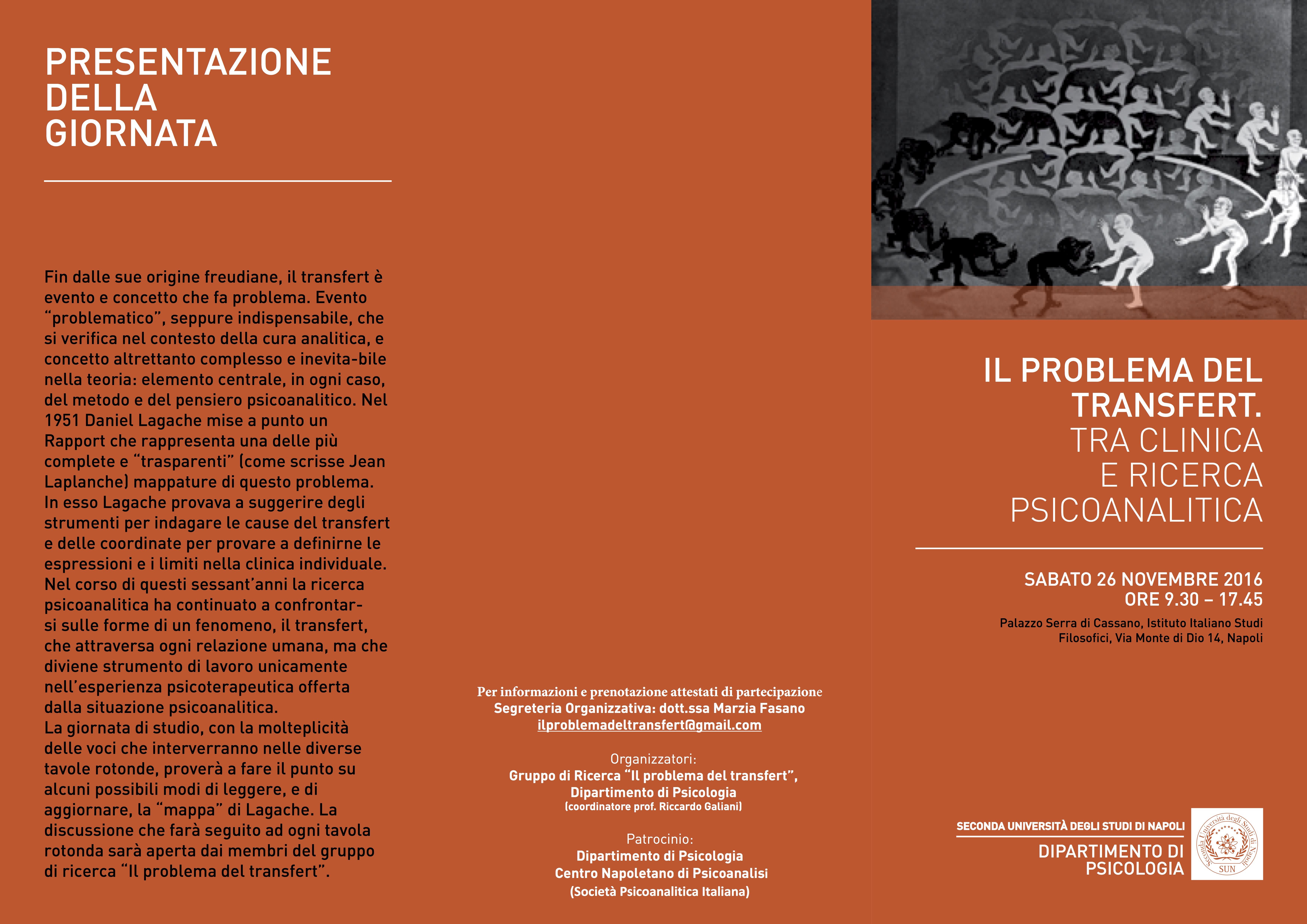 brochure giornata di studio Il probllema del transfert NAPOLI 26 NOVEMBRE